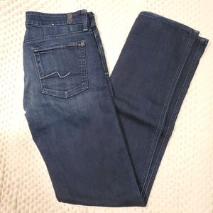 7 For All Mankind Kimmie Straight Leg Blue Jeans